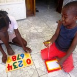 Haiti children receive donated toys